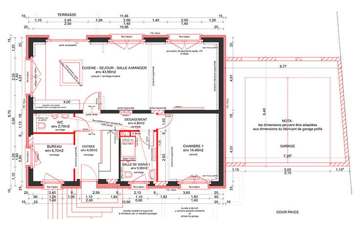 Plan renovation maison architecture design - Plan renovation maison ...